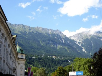 Looking out from Innsbruck Austria